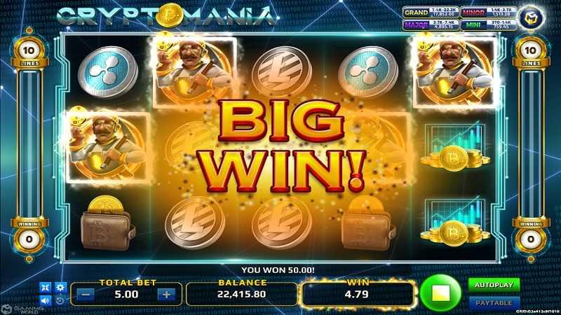 รีวิวและแนะนำเกมสล็อตออนไลน์ Crypto Mania Slot Review
