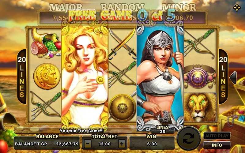 รีวิวและสอนเล่นเกมสล็อตออนไลน์ Hercules slot Review