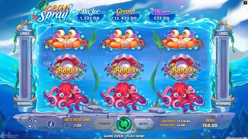 เกม OCEAN SPRAY เกมอัพเดตใหม่ล่าสุด